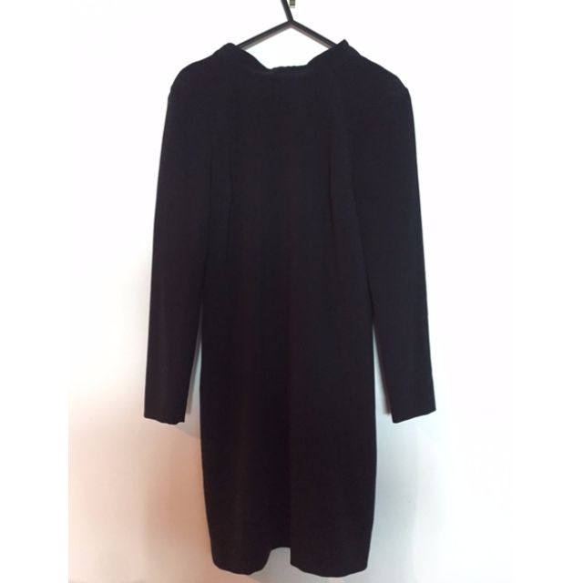 Witchery black dress pussybow open back size 4 (XS)