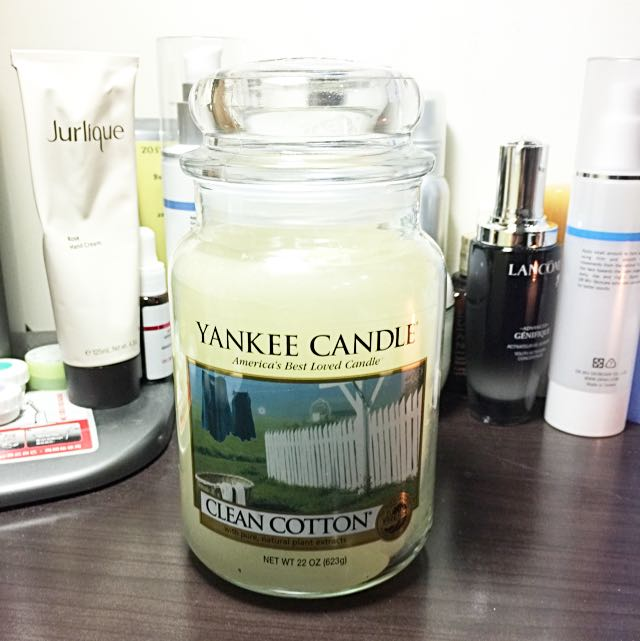 Yankee Candle瓶中燭 最暢銷香味Clean Cotton 22oz/623g