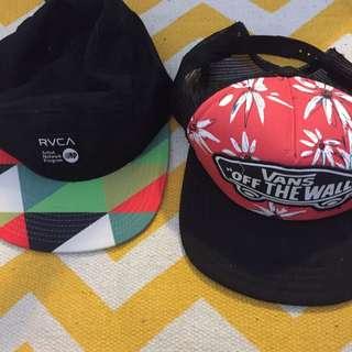 RVCA and vans hats