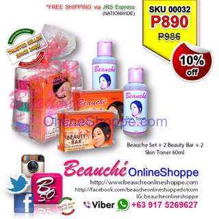 Beauche Set + 2 Beauty Bar + 2 Skin Toner 60ml (SKU 00032)