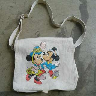 Sling Bag Canvas Mickey Mouse