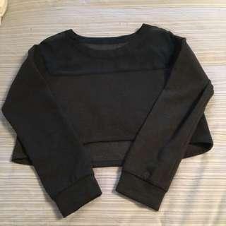 Grey Crop Sweater Size m