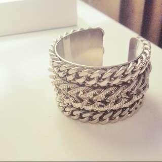 Club Monaco Chain Detail Cuff Bracelet