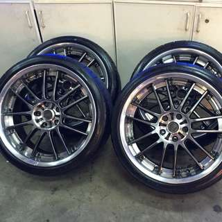 19 inch Rays Volk Racing GT30 rim 5x114.3with new Tyres