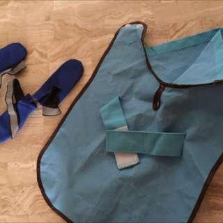 rain shoes & rain coat for your dog