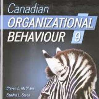 CANADIAN ORGANIZATIONAL BEHAVIOUR 9th EDITION