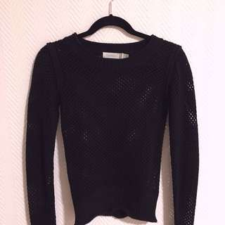 Costa Blanca Fishnet Knit Sweater