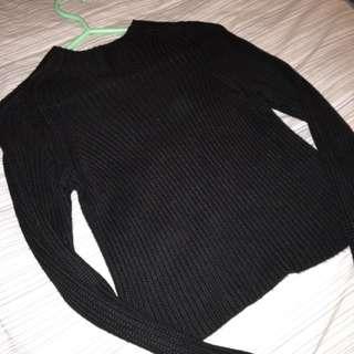 American apparel Black Sweater Crop