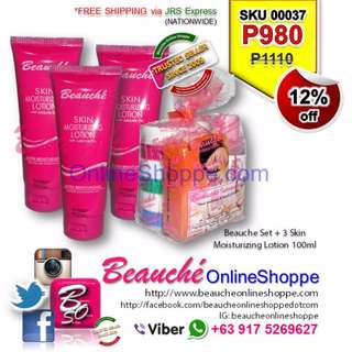 Beauche Set + 3 Skin Moisturizing Lotion 100ml (SKU 00037)