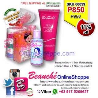 Beauche Set + 1 Skin Moisturizing Lotion 100ml + 1 Skin Toner 60ml (SKU 00039)