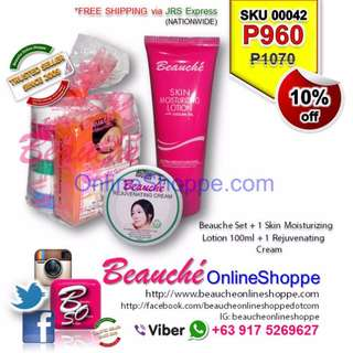 Beauche Set + 1 Skin Moisturizing Lotion 100ml + 1 Rejuvenating Cream (SKU 00042)