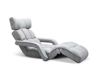 Single Size Lounge Chair with Arms – Grey