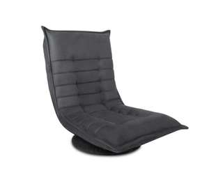 Single Size Lounge Chair - Charcoal