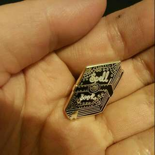 Spell Book Pin From Punkypins