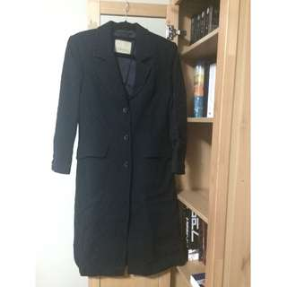 Women's Black 3 Buttons Coat