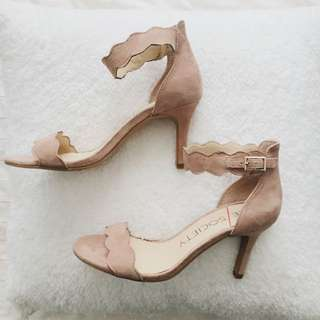 Sole Society: Nude Scallop Heels
