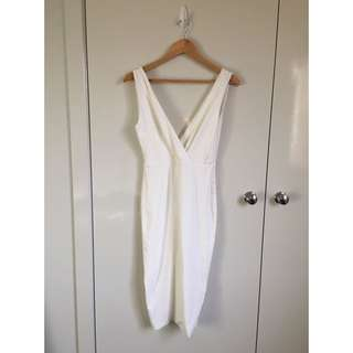 White Kookai Dress Deep V