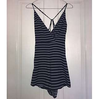 Striped Navy Blue Playsuit Dolly Girl Fashion