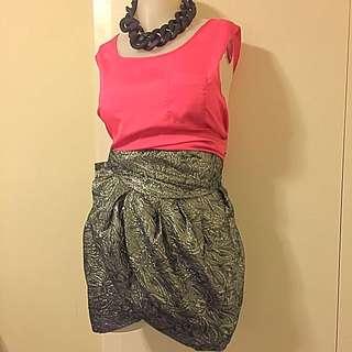 Isabel Marant for H&M Metallic Wrap Around Skirt