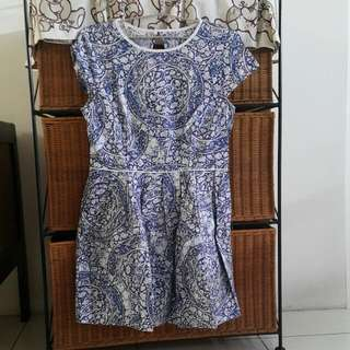 Batik Blue Dress Xkorz