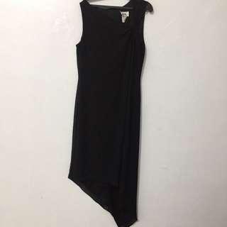 Black Diagonal Chiffon Size 8 - M