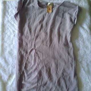 Never Worn! Grey Long Shirt With Slit