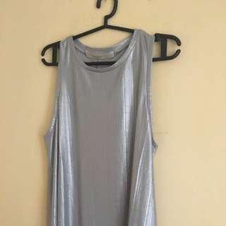 Silver Sleeveless Top (Celine)
