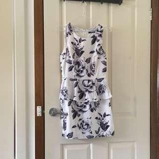 Floral Sportsgirl Peplum Dress
