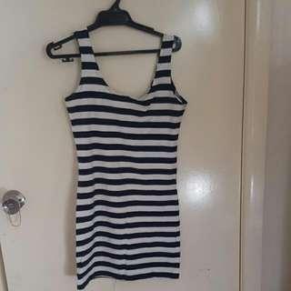 stretchy stripe dress!! worn once!!