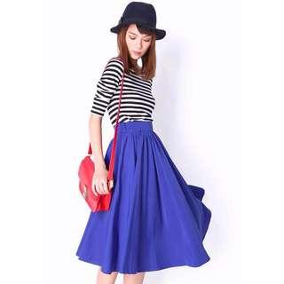 AforArcade (AFA) Blake Ruch Midi Skirt in Electric Blue [L]