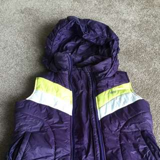 Les Mills Purple Puffer Vest