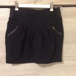 九成新黑色花苞裙