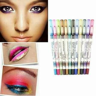 InStock Menow 12color Lip/Eyeliner pencil