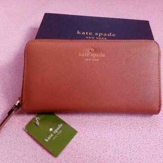 Authentic KateSpade NY Long Zip Wallet  #rushsale