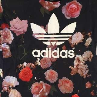 Floral Adidas Top Tshirt Tee