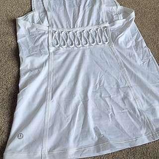 Lululemon White Loose-Fit Singlet