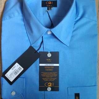 G2000 Blue Long Sleeve Formal(Slim Fit)