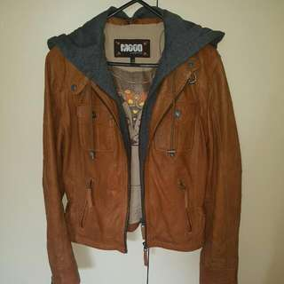 100% Brown Leather Jacket