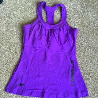 Les Mills Purple Bra Top Purple Small