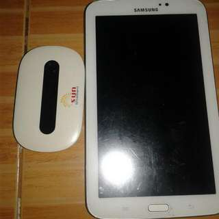 RESERVED  !!!!!!                                             Samsung Tab T210 With Sun Pocket Wifi