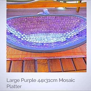 Mosaic Purple Large Platter 44x31cm