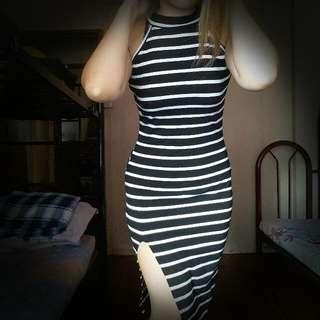 Halter Dress With Slit