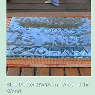 Around The World platter 25x38cm