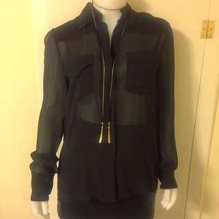 Gucci Silk Sheer Brown Shirt