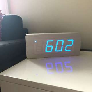 Woodblock Digital Clock