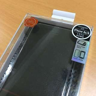iPhone6/6S Kajsa 真皮可通話/站立保護殼