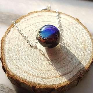 星球 玻璃球手鏈 Handmade glass bracelet