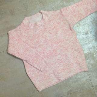 全新/混色粉針織毛衣