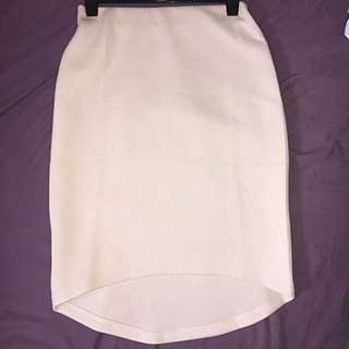 Mirrou Cream Midi Skirt
