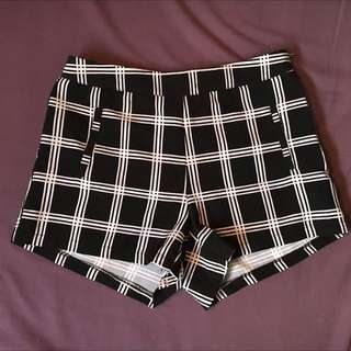 B&W High Waisted Shorts